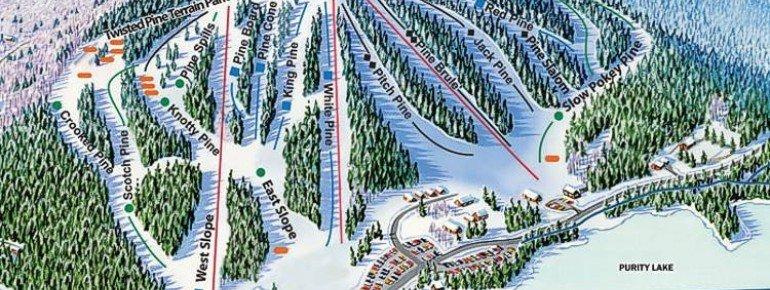 Pistenplan King Pine Ski Area