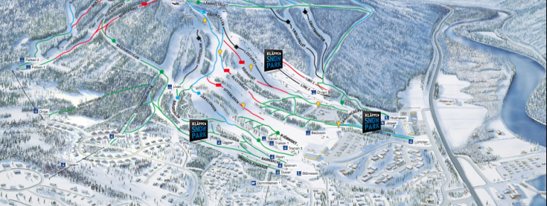 Pistenplan Kläppen Ski Resort