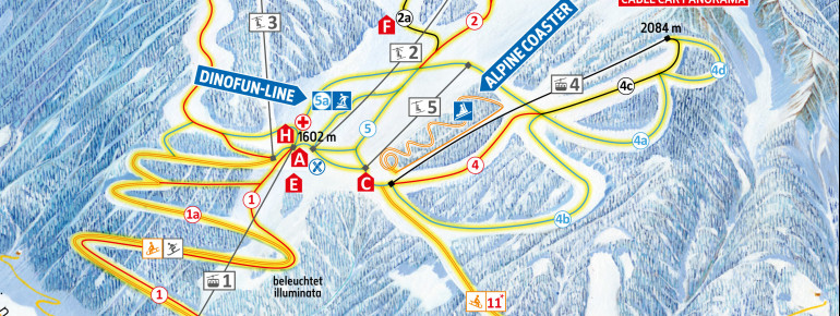 Pistenplan Klausberg (Skiworld Ahrntal)