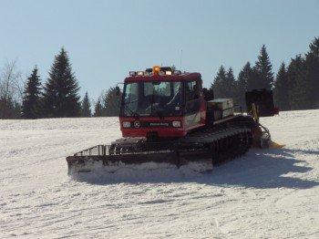 Pistenpräparierung am Skilift Mühlleiten
