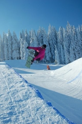 Die Halfpipe im Snowpark