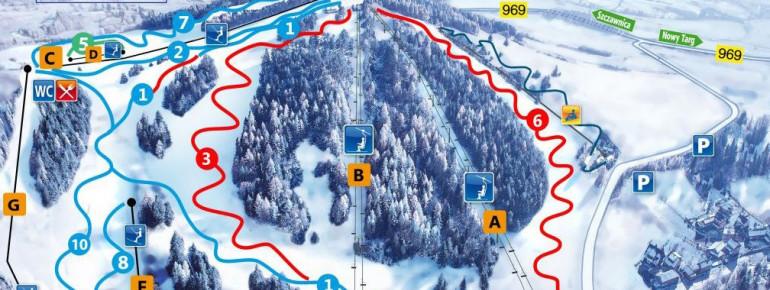 Pistenplan Kluszkowce Czorsztyn Ski