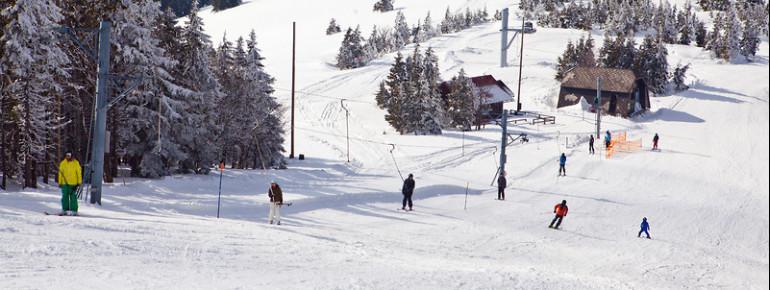 Insgesamt sechs Schlepplifte stehen Skifahrern und Snowboardern im slowenischen Skigebiet Kope zur Verfügung.