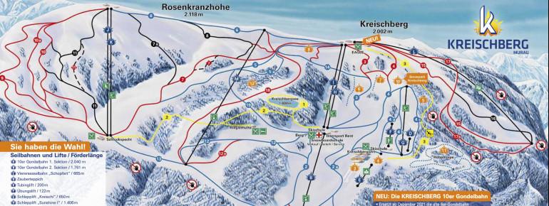 Pistenplan Kreischberg