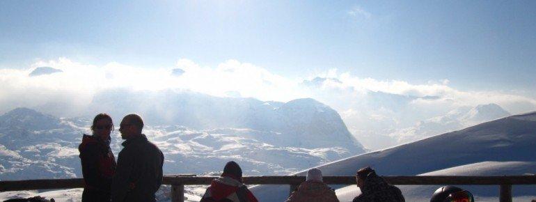 Blick von der Terrasse der Lodge am Krippenstein!