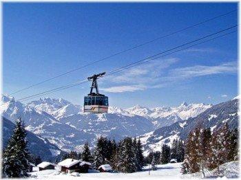Die Kristbergbahn bringt Wintersportler auf den 1.443 Meter hohen Kristberg.