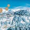 Winterpanorama Skigebiet Kristberg Silbertal, Montafon