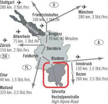 Anfahrt Skigebiet Kristberg Silbertal