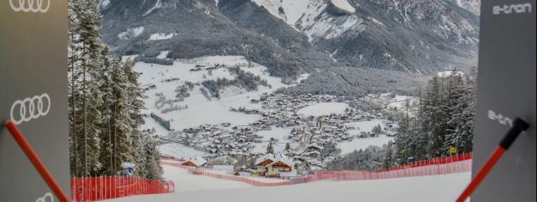 Die Weltcupabfahrt Erta endet in St. Vigil am Enneberg.