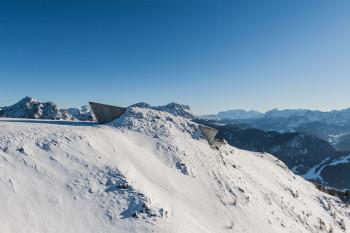 Das Messner Mountain Museum MMM Corones liegt auf über 2000 Meter.