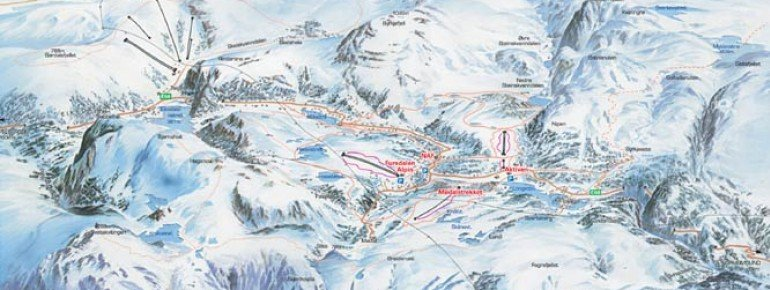 Pistenplan Furedalen Alpin / Kvamskogen