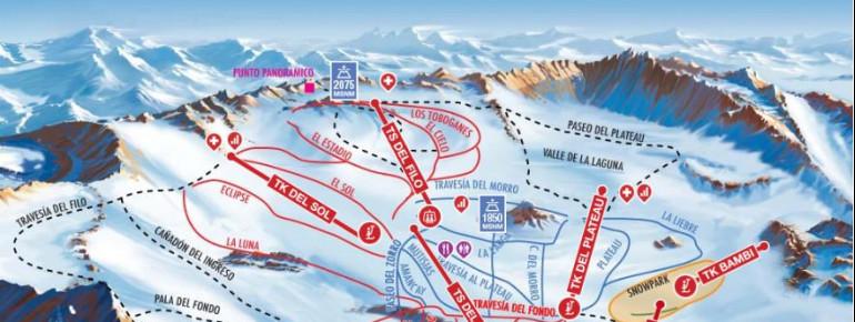 Pistenplan Skigebiet La Hoya