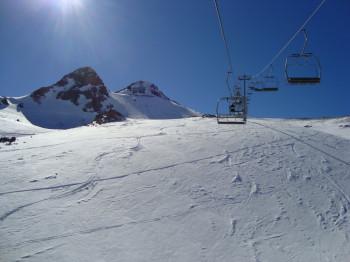 Skilift im Skigebiet la Parva.