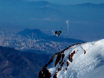 Blick auf die chilenische Hauptstadt Santiago