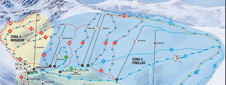 Pistenplan La Pinilla