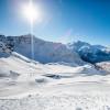 Ein Wintertraum für Skifahrer an der französisch-italienischen Grenze.