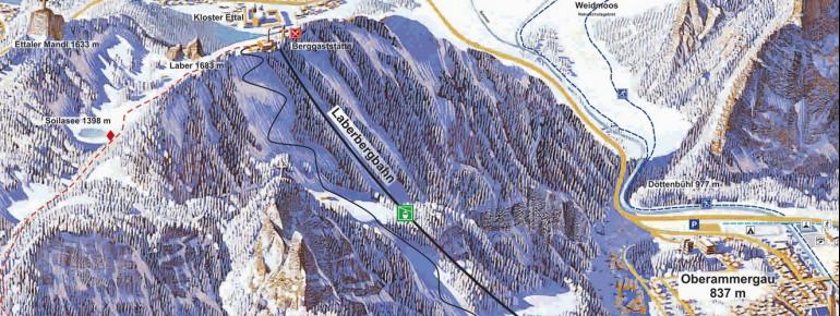 Pistenplan Laber Oberammergau