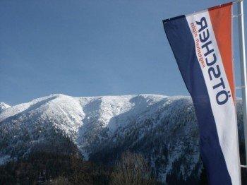 Der Ötscher, ein 1893 Meter hohes Bergmassiv im niederösterreichischen Mostviertel, eignet sich gut zum Skifahren.