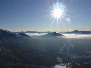Herrliche Aussicht auf die Berglandschaft im niederösterreichischen Mostviertel!