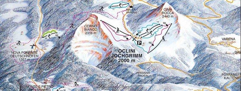 Pistenplan Lavazè Jochgrimm