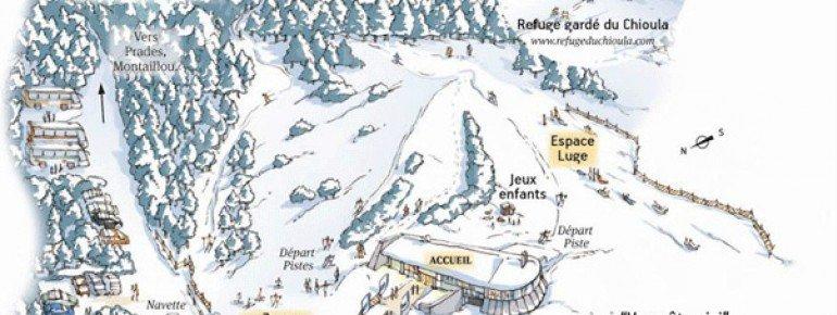 Pistenplan Le Chioula