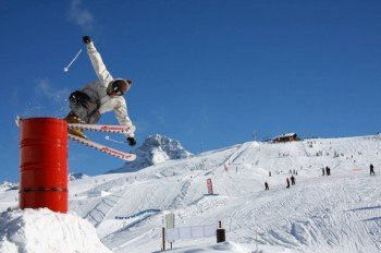Der Snowpark GB ist fast 5 Hektar groß.