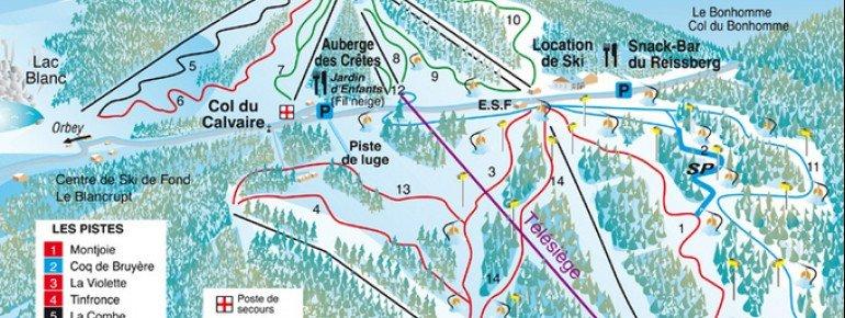 Pistenplan Le Lac Blanc