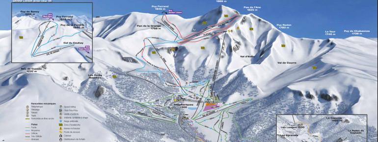 Pistenplan Le Mont Dore