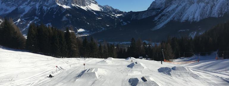 Auch einen Snowpark gibt es am Grubigstein.