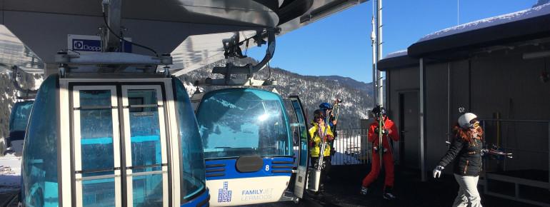 Zu den kürzesten Gondeln in Tirol gehört der Family-Jet.