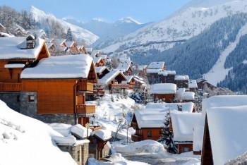 Méribel liegt auf 1450 Metern.