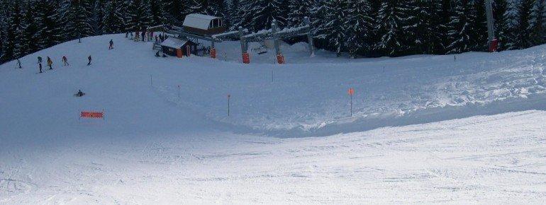 Blick auf die Talstation des L'Ousière Sesselliftes. Dieser bringt den Profi zu den anspruchsvollsten Pisten im Skigebiet!