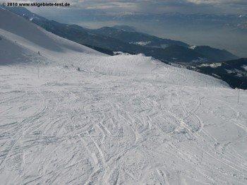 Bei ausreichender Schneelage findet man auch in Les 7 Laux traumhafte Powderabfahrten!