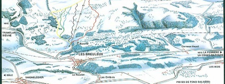 Pistenplan Les Breuleux