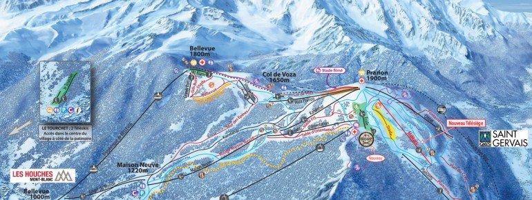 Pistenplan Chamonix Les Houches