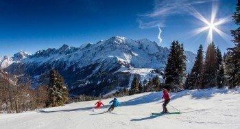 Das Skigebiet Les Houches besticht durch seine sanften bewaldeten Familienabfahrten