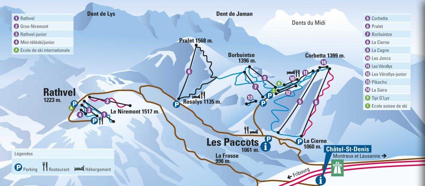 Skigebiet Les Paccots Skiurlaub Skifahren Testberichte
