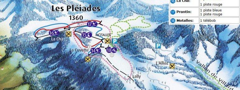 Pistenplan Les Pleiades