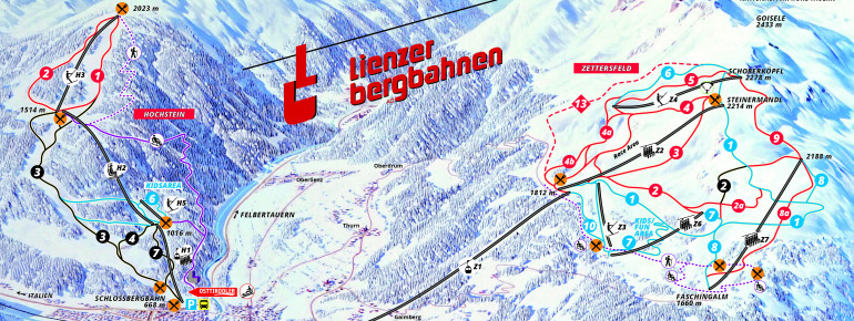 Pistenplan Hochstein & Zettersfeld