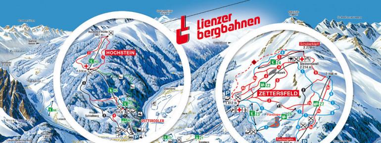 Pistenplan Lienz Hochstein & Zettersfeld