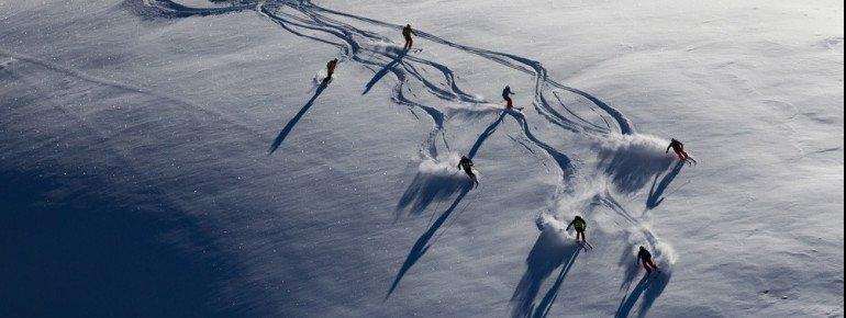 Auch verschiedene Freeride-Routen stehen Wintersportlern im Skigebiet Livigno zur Verfügung.