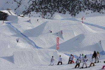 Das Skigebiet Livignio ist für seine zahlreichen Snowparks bekannt.