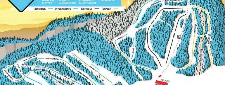 Pistenplan Loch Lomond Ski Area