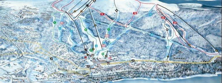 Pistenplan Lofsdalen