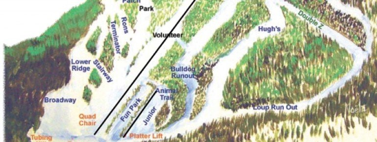 Pistenplan Loup Loup Ski Bowl