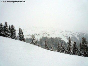 """Blick auf das Off-Piste-Gelände """"The Ridge""""!"""