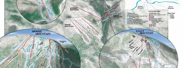 Pistenplan Lutsen Mountains