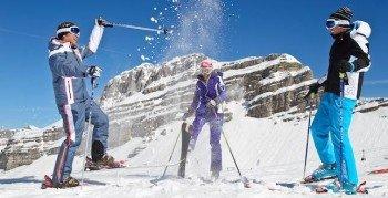 Voll auf ihre Kosten kommen besonders auch erfahrene Skifahrer in diesem Skigebiet.