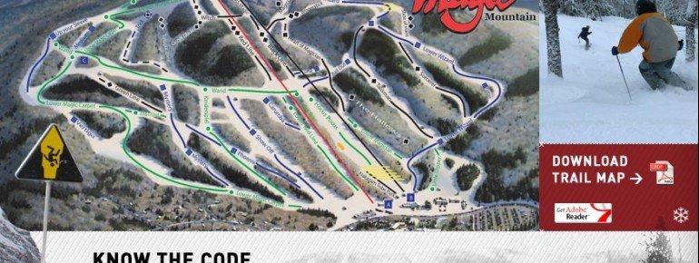 Pistenplan Magic Mountain VT