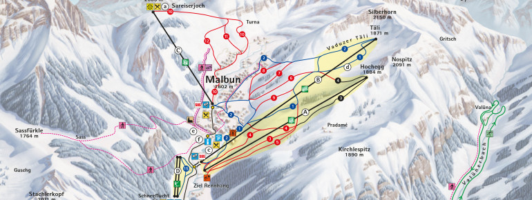 Pistenplan Malbun Triesenberg